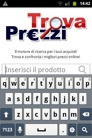 Screenshot di TrovaPrezzi