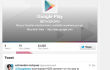 Screenshot dell'account Twitter di Google Play