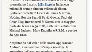 Lettera di Amazon su MP3 Store