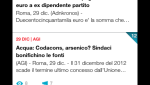 Schermata di Newscron