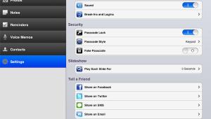 Schermata di App Secret