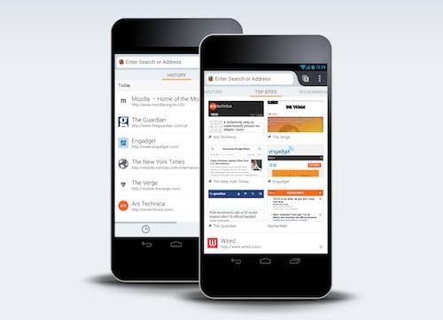 Nuova schermata di Firefox