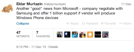 Tweet di Eldar Murtazin