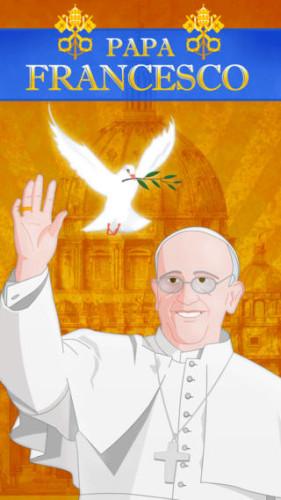 Screenshot della app Papa Francesco per iPhone