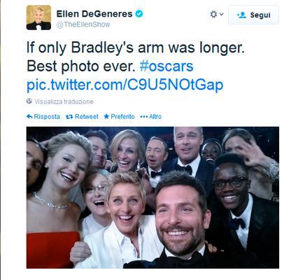 Selfie di Ellen DeGeneres