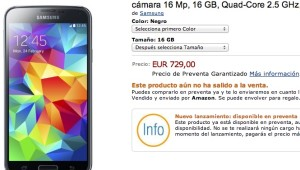 Samsung Galaxy S5 nell'eshop di Amazon